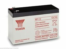 2 x YUASA 12v 7Ah (as 6Ah & 10Ah) - MOBILITY SCOOTER WHEELCHAIR BATTERIES