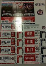 2014 WASHINGTON NATIONALS WORLD SERIES PLAYOFFS TICKET STRIP STUB VS GIANTS 1 2