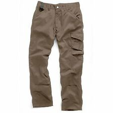 SCRUFFS WORKER TROUSERS 36W 32L BROWN T51935