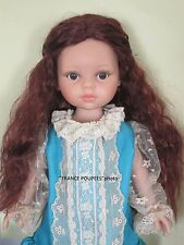 """perruque LONGUE Auburn poupée moderne-tête19/20cm-Doll wig supplies sz7.5/8"""""""