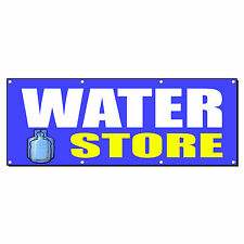 WATER STORE Promotion Business Sign Banner 4' x 2' w/ 4 Grommets