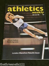 ATHLETICS WEEKLY - WORLD INDOOR RANKING LISTS - MAY 15 1982