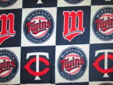 MINNESOTA TWINS CHECKED MLB BASEBALL FLEECE FABRIC