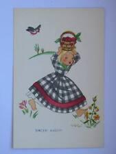VOLPI illustratore bambina con ciliegie SINCERI AUGURI