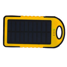 5000mAh Power Bank Waterproof Outdoor Portable Solar Charger USB Battery