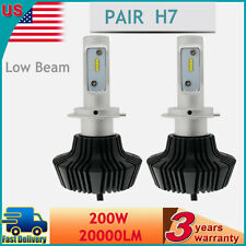 H7 20000LM 200W High Power Philips LED Headlight Low LED Bulbs White 6000K Pair