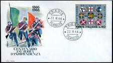 REP. IT. 1966 BUSTA (figura d) F.D.C. 1°GIORNO ANNESSIONE VENETO