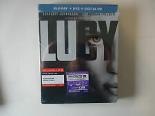 Lucy (Blu-ray/DVD, 2015, 2-Disc Set, Includes Digital Copy) NEW Target Steelbook