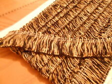 BLACK AND GOLD BULLION FRINGE 4CM DEEP - SOLD BY THE METRE