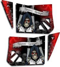 Blingstar Door Graphics Kit Polaris RZR 570, 800, 900 XP RZR S Grim Reaper Red