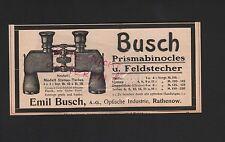 RATHENOW, Werbung 1908, Emil Busch AG Optische Werke Prismabinocles Feldstecher