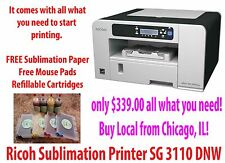 Sublimation Ink Ricoh Aficio SG 3110 DNW. PowerDriver W/ ICC Profiles!