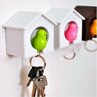 Colorful Sparrow Key Ring Keychain Birdhouse Wall Hook Holder Hot