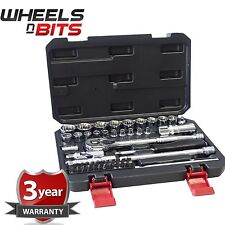 "1/4"" & 3/8"" Inch Drive 12 Multi Point professional Quality Sockets 52pc Inc Case"