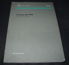 Werkstatthandbuch Mercedes Omnibus Bus Typ O 404 Einführungsschrift April 1992!