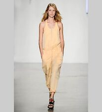 NWT $485 Helmut Lang Odyssey Jumpsuit Overalls Orange Peach Runway  M 4 6
