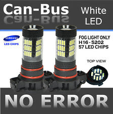 TMZ 2x Samsung Chips Canbus 57 LED H16 5202 FOG LIGHT bulbs w/No Error #UG28