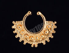 New Clip On Septum Fake Nose Hoop Non Piercing Nose Rings Stud Body Jewelry BG27
