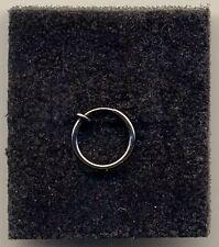 Anillo de 12mm Negro Clip Falso No Piercing Joyas De Cuerpo Oreja/Nariz/labios