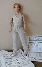 "Pants/Vest Pattern For 17"" Tonner Matt, Rufus, Simon, Phin, Russell & Andy Dolls"