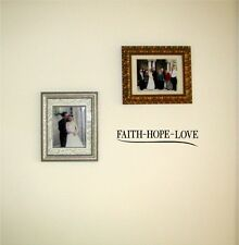 Faith Hope Love Vinyl Wall Decal Sticky Decor Letters inspirational Graphics