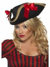 Women's Adult Fever Pirate Hat Black Ladies Fancy Dress Sexy Sailor Explorer Fun
