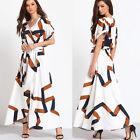 Women Evening Party Casual Skirt Ladies Summer Beach Long Maxi Dress Size 8-1024