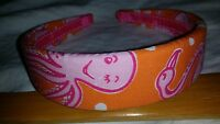 "LILLY PULITZER  1.25"" Wide  Cotton Fabric Headband  ""FLORIDA FRIENDS""   NWOT"