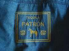 PATRON TEQUILA DENIM JEAN JACKET URBAN EQUIPMENT EMBROIDERED SIZE L LARGE