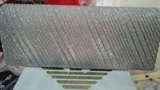 New Sparkling lovley Party Bridal Evening Clutch Bag Silver