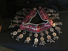 Vintage Handmade  Afghan Turkmen Tribal Kuchi Chain Jingle belt Belly Dancer