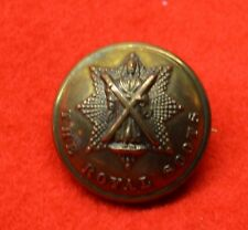 British Army. Royal Scots Button Sweetheart Badge