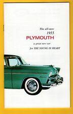 Plymouth 1955 Owners Manual Excelente Nuevos Reimpresión
