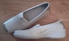 "ECCO Light ""Shade"" - CREAM+Beige two-tone  SLIP-ON wedge SHOES - uk 6/39 - bnib"