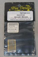 1/72 True Details 72710  etched AMERICAN AIRCRAFT MIRRORS  WWII & Later Mint
