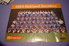 "1984 USFL Oakland Invaders Team Poster. 17"" x 22"""