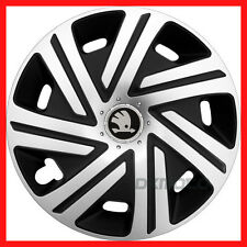 "4 x15"" Wheel trims fit Skoda Roomster Rapid Octavia  Fabia  - 15'' silver/black"
