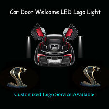 2x 3D Cobra Logo Car Door Projector Shadow LED Light for Ford Mustang Shelby