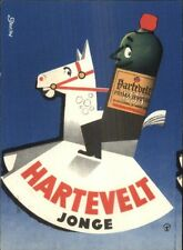 Art Deco Dutch Liquor Alcohol Fantasy Adv Hartevelt Jonge Postcard gfz