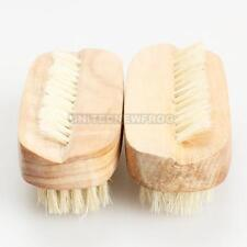 UN3F 2PCS Nail Art Trimming Brush Wooden Manicure Files Cleaning Scrubbing Tool