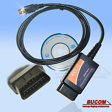 OBD2 CAN-BUS Interfaz USB Diagnóstico VAG AUDI BMW MERCEDES VW FORD OPEL