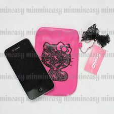 Hello Kitty Bowknot for iPhone 4 4S 5 5S Phone iPod Bag Case Pouch Strap