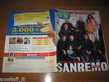 TV SORRISI E CANZONI=2002/11=SPECIALE  FESTIVAL SANREMO CANTANTI CANZONI