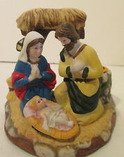 "Porcelain Nativity Candle Holder Gift Collection 4""x 5"""
