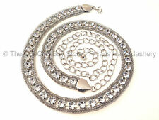 *NEW* Design - Large Diamante Ladies Waist Chain Belt Silver-One Size Fits All