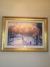 """Thomas Kinkade Limited Edition Lithograph canvas """" Town Square"""""""