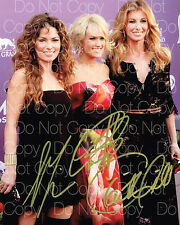 Carrie Underwood, Shania Twain, Hill 8X10 photo picture poster autograph RP