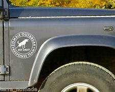 2x ZOMBIE RESPONSE TEAM K9 UNIT FUNNY CAR WINDOW STICKER  DECAL GRAPHIC Jeep LR