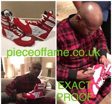 Floyd Mayweather Signed TMT Boxing Boot With Proof Signed In New York City AFTAL