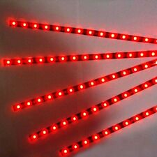 5pcs 30cm 15 LED Strip Light Flexible Waterproof  Red For Car Motor Vehicle12V